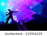 illustration of rock star... | Shutterstock .eps vector #115316125
