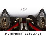 Old Typewriter With Text Fin ...