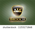 gold emblem or badge with... | Shutterstock .eps vector #1153171868