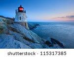 Castle Hill Lighthouse At Dusk