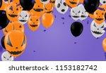 halloween background with...   Shutterstock .eps vector #1153182742
