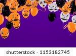 halloween background with...   Shutterstock .eps vector #1153182745