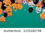 halloween background with...   Shutterstock .eps vector #1153182748