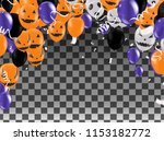 halloween background with...   Shutterstock .eps vector #1153182772