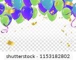 balloons isolated. celebration...   Shutterstock .eps vector #1153182802