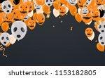 halloween background with... | Shutterstock .eps vector #1153182805
