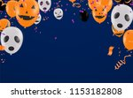 halloween background with... | Shutterstock .eps vector #1153182808