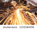 sparks while grinding in a... | Shutterstock . vector #1153184458