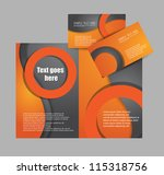 brochure design with bsuiness... | Shutterstock .eps vector #115318756