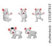 cartoon polar bear | Shutterstock .eps vector #1153187815