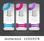 web sale banners | Shutterstock .eps vector #115319278