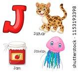 illustration of j alphabet   Shutterstock .eps vector #1153193398