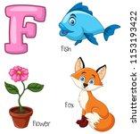 illustration of f alphabet   Shutterstock .eps vector #1153193422