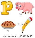 illustration of p alphabet   Shutterstock .eps vector #1153193455