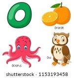 illustration of o alphabet   Shutterstock .eps vector #1153193458