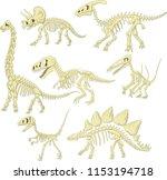 Cartoon Dinosaurs Skeleton...