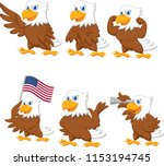 cartoon eagles collection set | Shutterstock .eps vector #1153194745