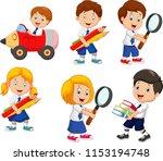 cartoon school children cartoon ... | Shutterstock .eps vector #1153194748