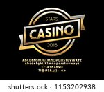 vector golden emblem casino... | Shutterstock .eps vector #1153202938