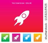 icon in colored square box.... | Shutterstock .eps vector #1153215925