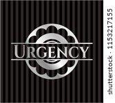 urgency silvery emblem or badge | Shutterstock .eps vector #1153217155