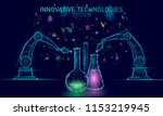 low poly chemical synthesis... | Shutterstock .eps vector #1153219945