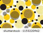 yellow random round geometry... | Shutterstock .eps vector #1153220962