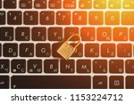 laptop keyboard and closed... | Shutterstock . vector #1153224712