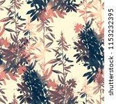 imprints abstract meadow herbs... | Shutterstock . vector #1153232395