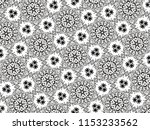 ornament with elements of black ... | Shutterstock . vector #1153233562