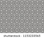 ornament with elements of black ... | Shutterstock . vector #1153233565