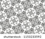 ornament with elements of black ... | Shutterstock . vector #1153233592