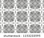 ornament with elements of black ... | Shutterstock . vector #1153233595