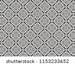 ornament with elements of black ... | Shutterstock . vector #1153233652