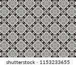 ornament with elements of black ... | Shutterstock . vector #1153233655