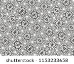 ornament with elements of black ... | Shutterstock . vector #1153233658