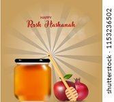 happy rosh hashanah poster ... | Shutterstock .eps vector #1153236502