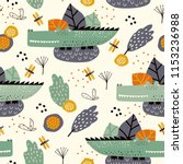 seamless pattern with cute... | Shutterstock .eps vector #1153236988