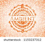 ambient abstract orange mosaic... | Shutterstock .eps vector #1153237312