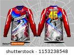 long sleeve motocross jerseys t ... | Shutterstock .eps vector #1153238548