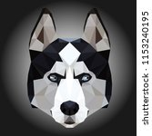 low poly triangular husky dog...   Shutterstock .eps vector #1153240195