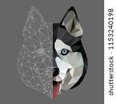 low poly triangular and... | Shutterstock .eps vector #1153240198