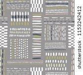 hand drawn tribal geo marks ... | Shutterstock .eps vector #1153242412