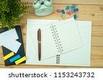 office supplies or office work... | Shutterstock . vector #1153243732