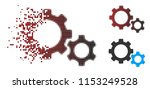 vector gears icon in sparkle ...   Shutterstock .eps vector #1153249528