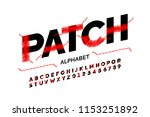 patched font stitched with... | Shutterstock .eps vector #1153251892