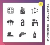 modern  simple vector icon set... | Shutterstock .eps vector #1153255468