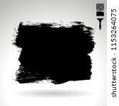black brush stroke and texture. ... | Shutterstock .eps vector #1153264075