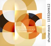 modern circle abstract... | Shutterstock .eps vector #1153264612