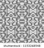 vector black white seamless... | Shutterstock .eps vector #1153268548